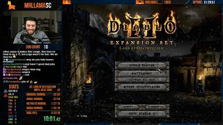 Diablo 2 - Hell Hardcore Sorceress Speedrun - Uh OH