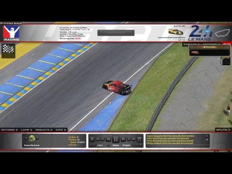 iRacing Audi R8 LMS at Circuit des 24 Heures du Mans - 24 Heures du Mans