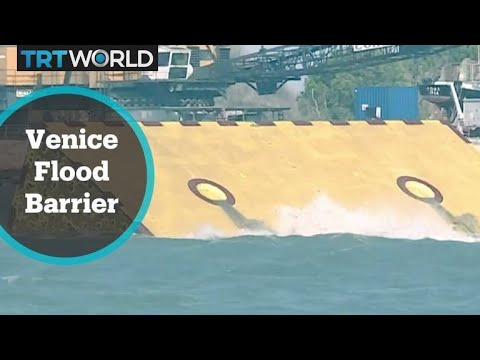 Venice tests a new flood barrier system