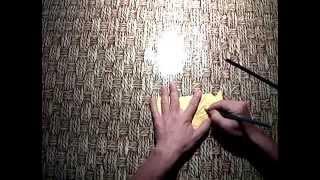 Как сделать: мордочку тигра из бумаги. Оригами - мастер класс. Видео урок со схемой.