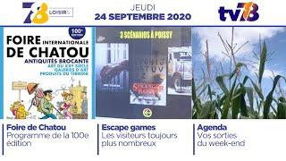 7/8 Loisirs. Emission du 24 septembre 2020