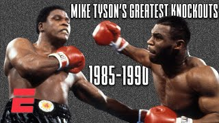 Mike Tyson's best knockouts [1985-1990] | Boxing on ESPN