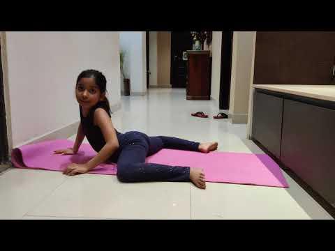 Froggy Yoga Pose for Beginners.Nevaeh Kapoor Tutorial Frog pose (Mandukasana)