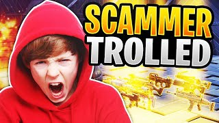 Scammer Gets Trolled And Has Freakout! (Scammer Gets Scammed) Fortnite Save The World