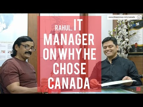 Rahul our IT manager  Canadian visa got client with Manoj Palwe!!