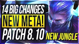 NEW META IS HERE?! 14 BIG CHANGES & NEW OP CHAMPS Patch 8.10 - League of Legends thumbnail