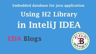 Embedded DataBase for java apps using H2 library InteliJ IDEA