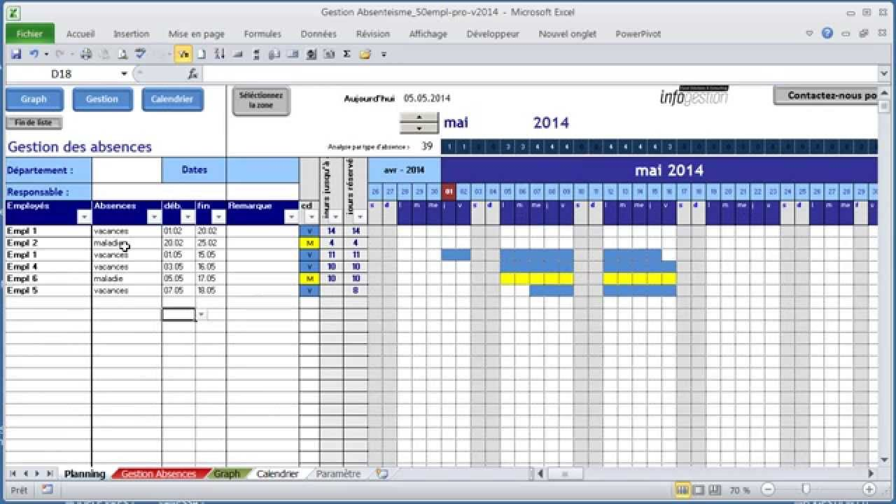 modele planning conges excel