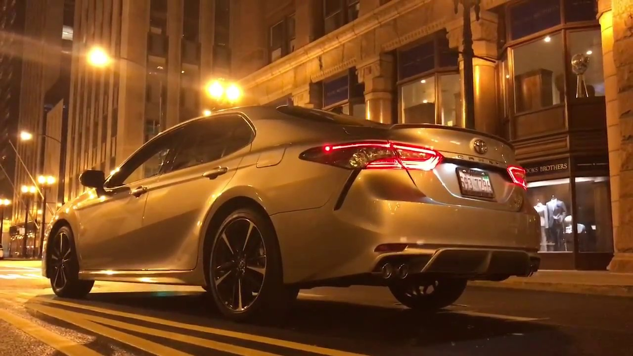 Camry Xse 2017 >> 2018 Toyota Camry xse night view in chicago - YouTube