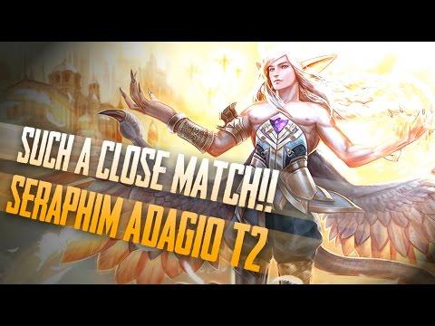 Vainglory Skins - SERAPHIM TIER 2!! Adagio  CP  Lane Gameplay [Update 1.23]