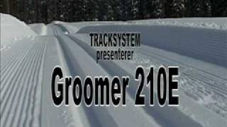 Setting cross country ski trails with a Sherpa snowmobile