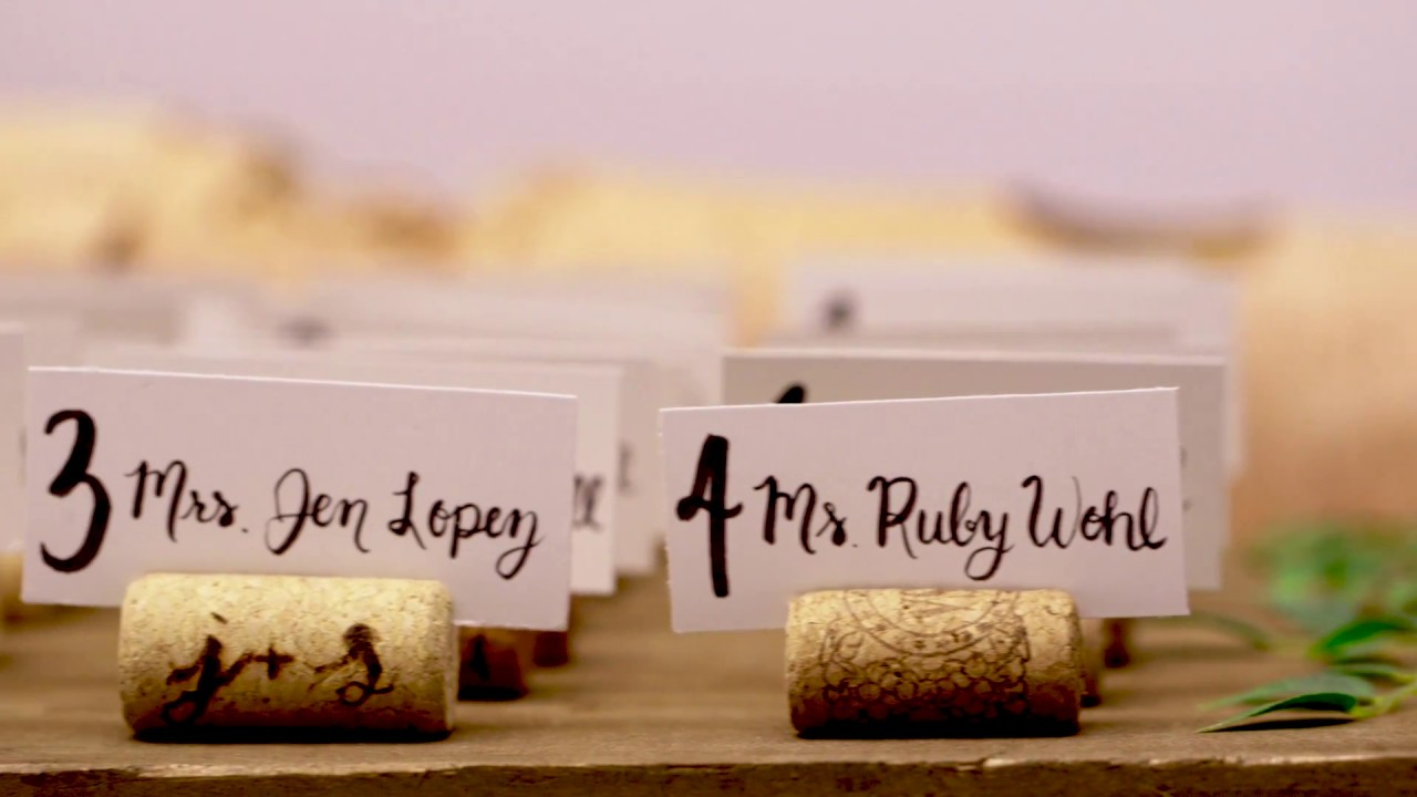 Diy Wine Cork Place Card Holders For Your Wedding Youtube