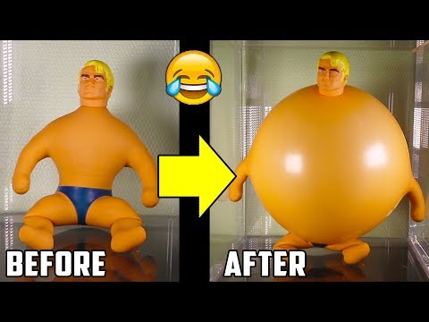 Stretch Armstrong toy in Vacuum Chamber