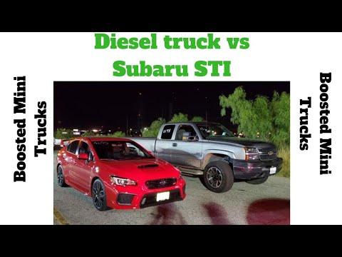 Diesel truck vs subaru STI