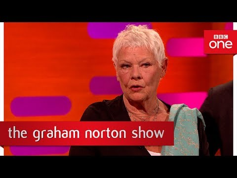 Dame Judi Dench was left puzzled by an angry protestor  - The Graham Norton Show: 2017 - BBC One