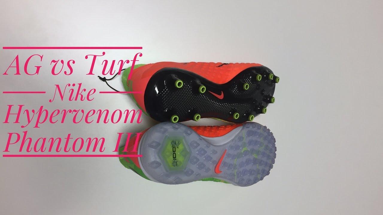 size 40 7d210 1379f The difference between AG & Turf: Nike Hypervenom Phantom III