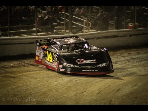 Tyler Clem late model In car camera 2nd place. Volusia Speedway Park 2016