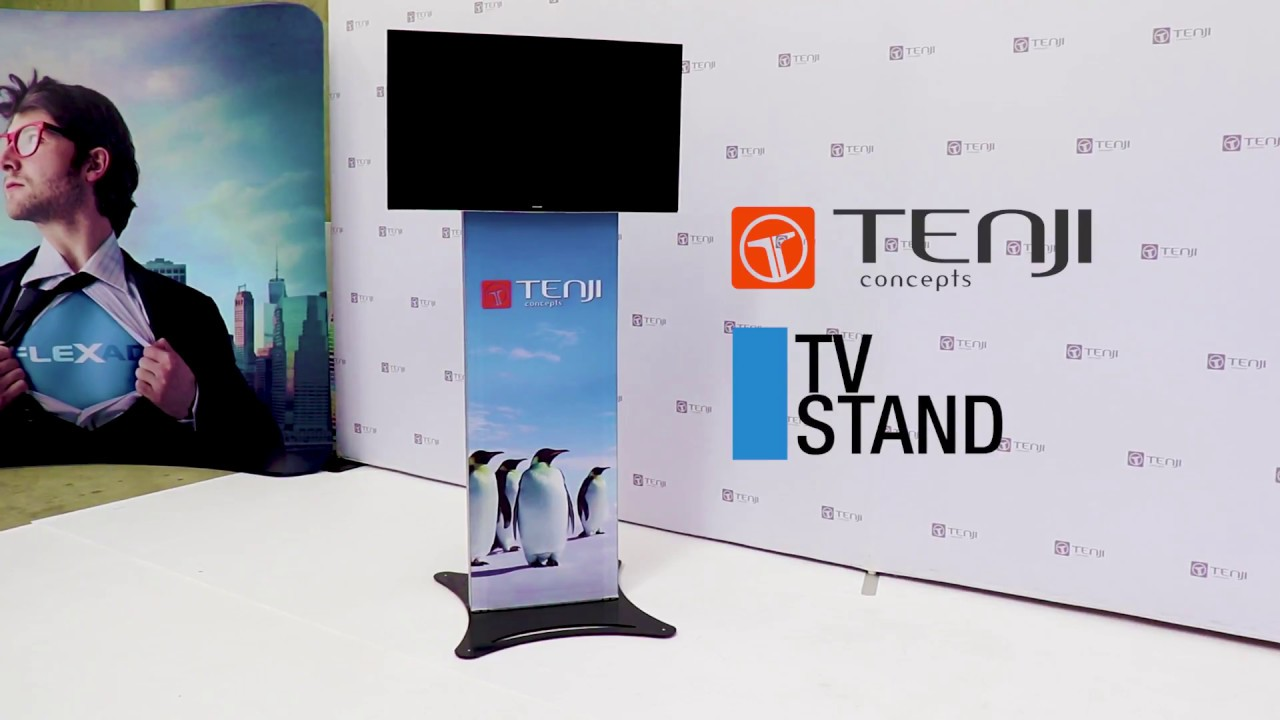 Portable Exhibition Stands In : Portable exhibition tv stand youtube