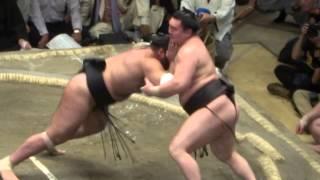 20140923 大相撲秋場所10日目 白鵬vs大砂嵐.