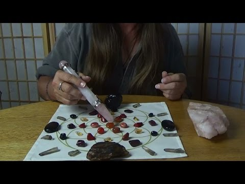 ASMR Energy Reading and Crystal Grid Making With A Friend