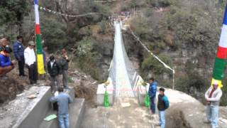 Tara Foundation Usa - Nepal Suspention Bridge Project Completed March 2014