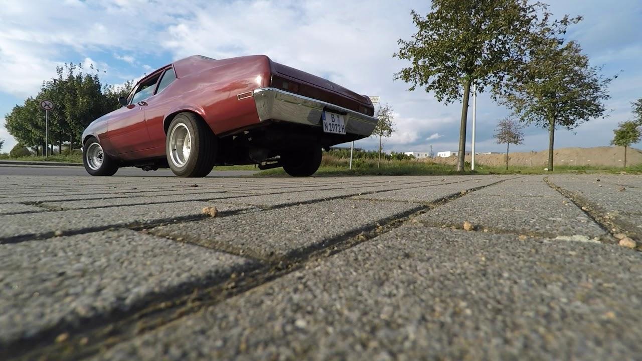 1972 Chevrolet Nova 454 Big Block US Muscle Car V8 Sound - Start ...