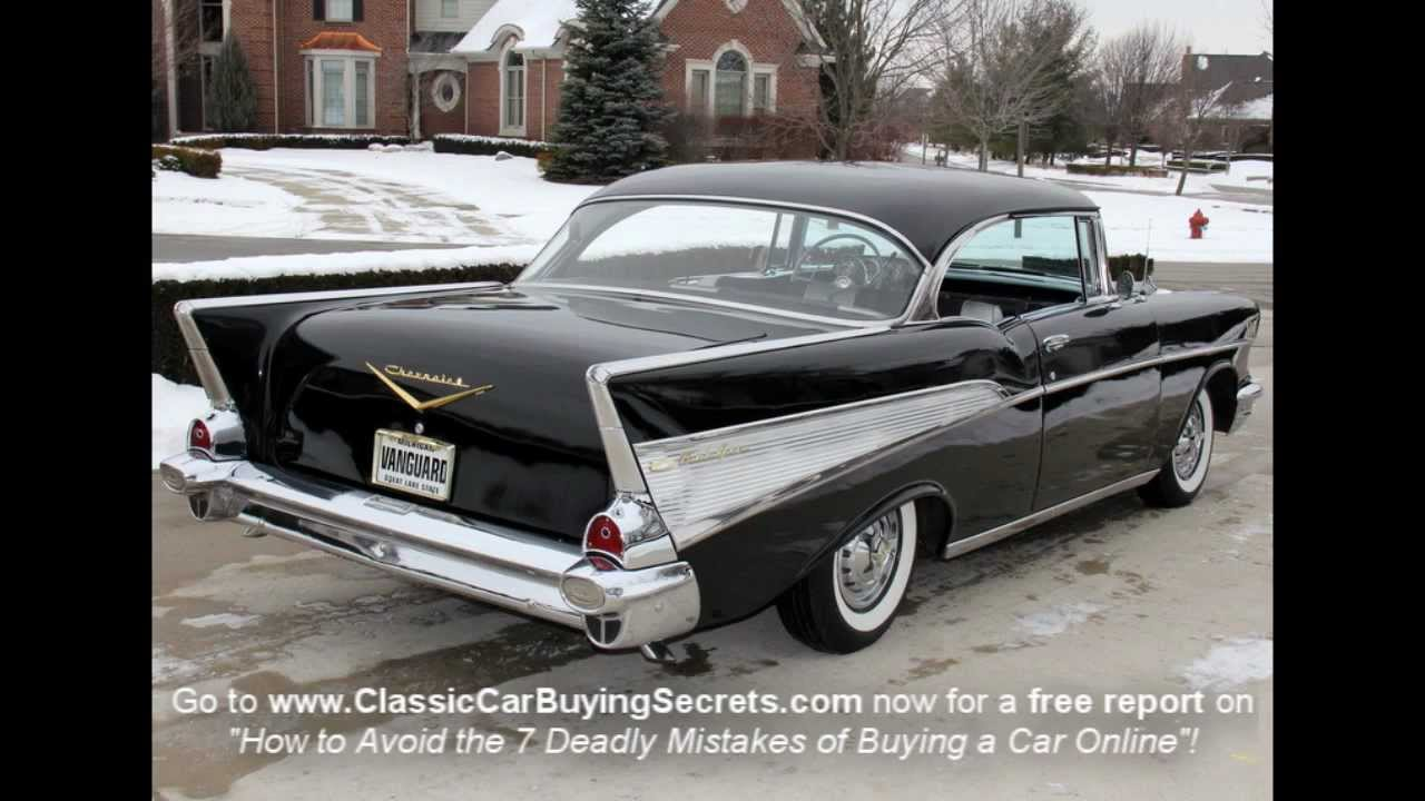 1957 chevrolet 210 2 door post hardtop 24101 - 1957 Chevy Bel Air 2 Door Hardtop Classic Muscle Car For Sale In Mi Vanguard Motor Sales