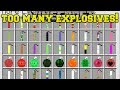 Minecraft: TOO MANY EXPLOSIVES!! (63 NEW EXPLOSIONS!) Mod Showcase