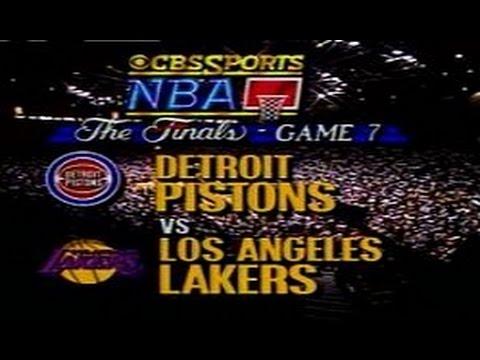 Final NBA Lakers vs Pistons 1998 Game 7