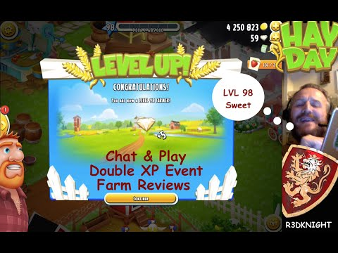 Hay Day - Chat & Play - LVL 98, Reviews, Double XP Event
