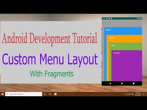 Android Development Tutorial : Cool Menu  Design Implementation With Fragments thumbnail
