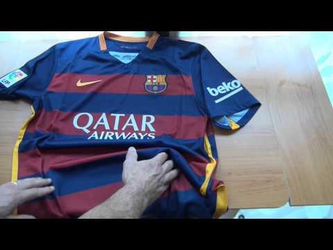 a81ae0f5ec Unboxing  Camiseta Nike do FC Barcelona Oficial Home Stadium 2015 2016  (Original) - YouTube