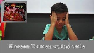 Indonesian Kids : React to Korean Ramen vs Indomie