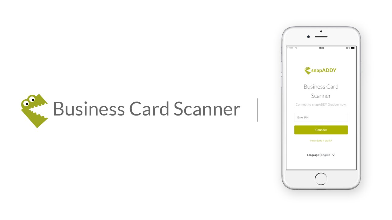 Snapaddy business card scanner youtube snapaddy business card scanner snap addy colourmoves