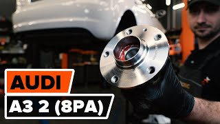 rear and front Wheel bearing kit change on AUDI Q5 2019 - video instructions