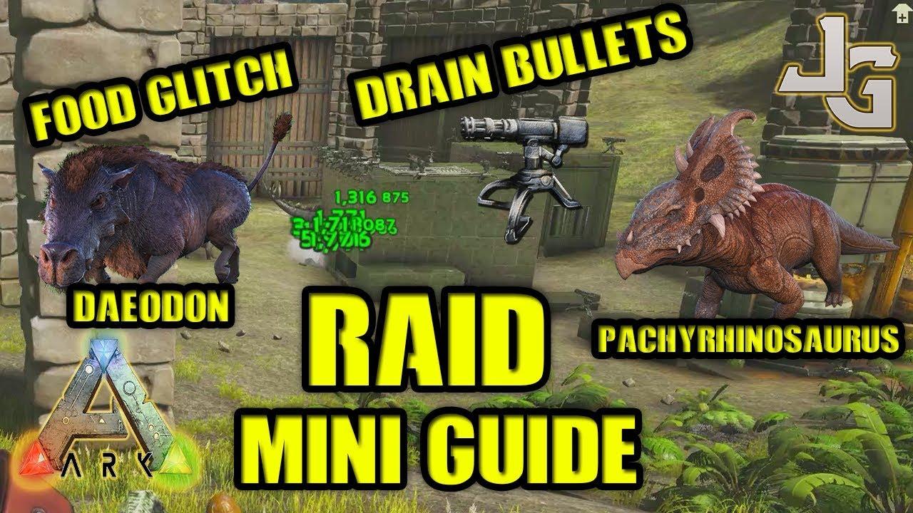 Ark Raid Mini Guide Best Way To Drain Bullets Food Exploit Daeodon Jonesy Gaming Let S Play Index Ark daeodon taming and breeding! let s play index