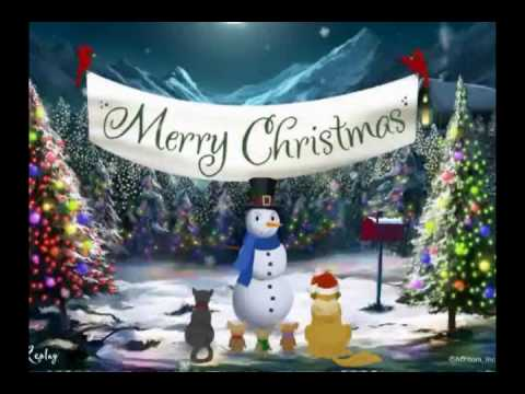 Merry Christmas Video Card Greeting - YouTube