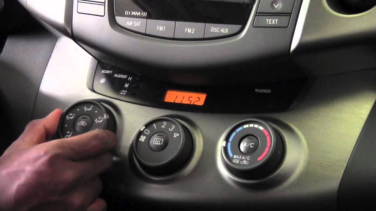 2011 Toyota Rav4 Manual Climate Controls How To By