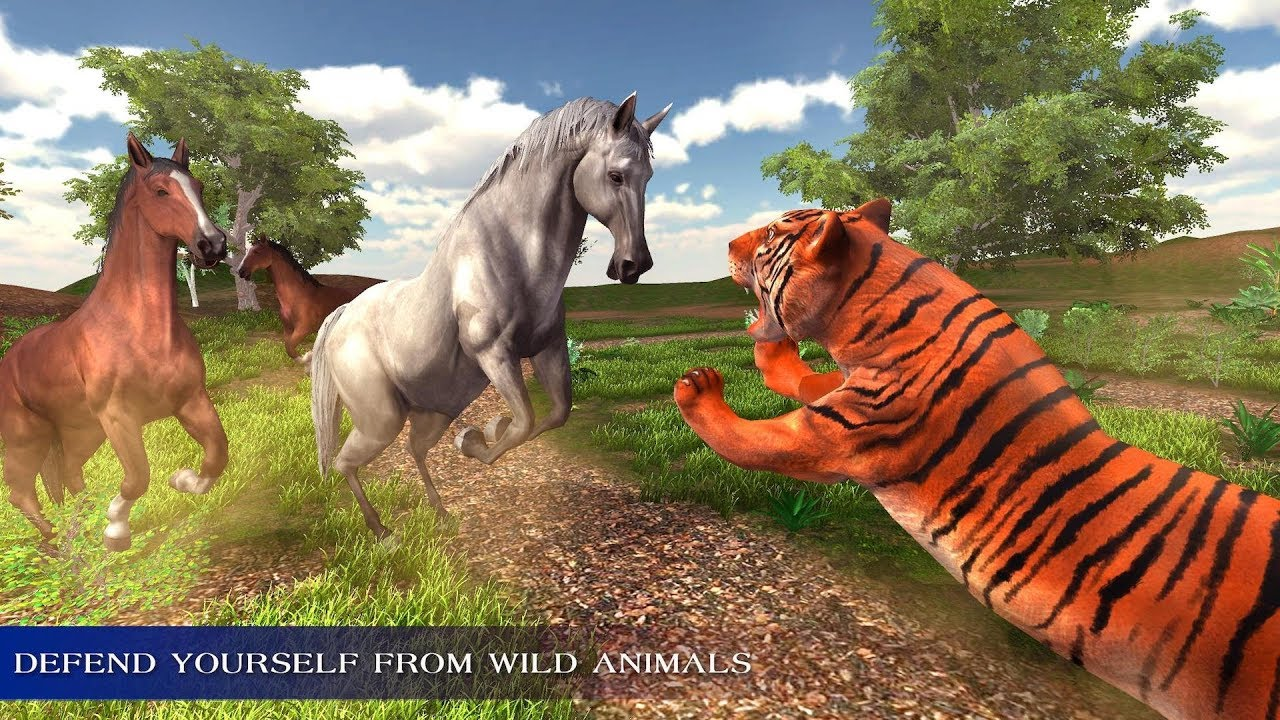 Image of: Adopt Virtual Wild Horse Family Sim Animal Horse Games Gameskinnycom Virtual Wild Horse Family Sim Animal Horse Games