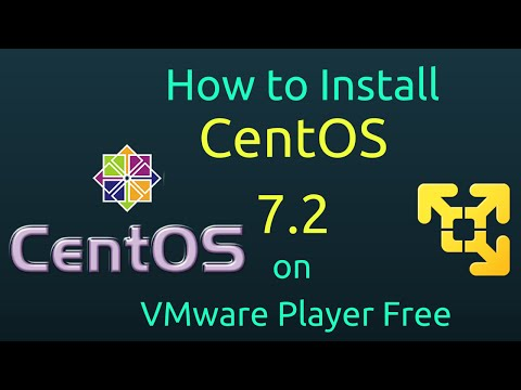 how-to-install-centos-7.2-on-vmware-player-free-[subtitle]-[hd]