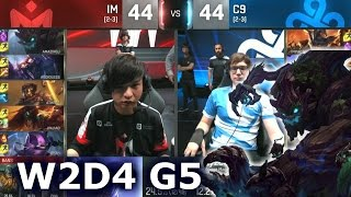 C9 vs IM - Worlds 2016 W2D4 Group B | LoL S6 World Championship Week 2 Day 4 Cloud 9 vs I May