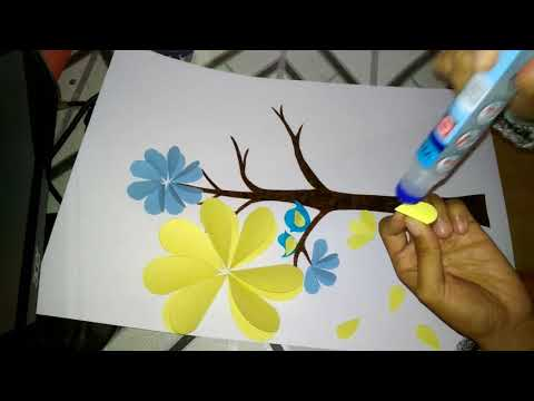 DIY PAPER TREE CRAFTS ( Decoration for a room or classroom)