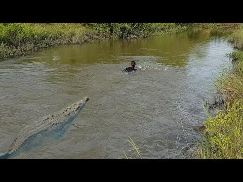 Terrifying! Boy Catch Big Crocodile While Make Survival Fish Trap In His Village