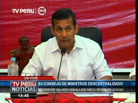 Inicio del XV Consejo de Ministros Descentralizado en región Ucayali