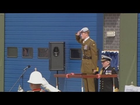 Prince Harry opens Royal Navy centre in Plymouth