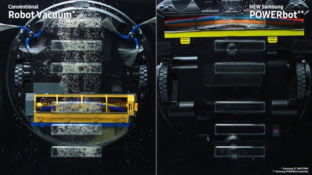 samsung powerbot essential staubsauger roboter mit starker saugkraft 80 w youtube. Black Bedroom Furniture Sets. Home Design Ideas