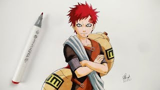 How to Draw Gaara - Step By Step (Tutorial) - Naruto