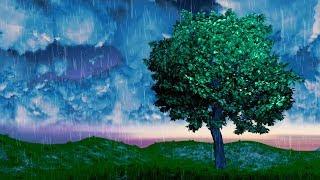 White Noise Rain Sounds for Sleep, Focus, Studying | Rainstorm 10 Hours