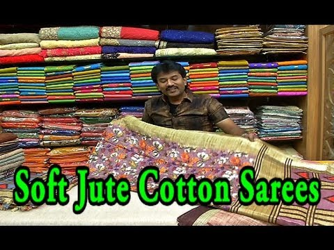 01c6d23c1 Soft Jute Cotton Sarees   Just Rs.799  - Only   Printed Designs ...