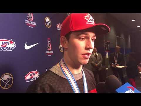 1/5/2018: Tyler Steenbergen post-game interview (2018 WJC gold medal game)